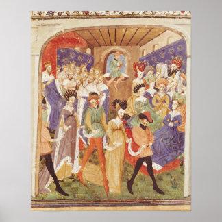 Court Ball, from the 'Roman du Saint Graal' Poster