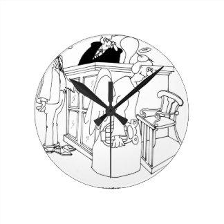 Court Cartoon 5621 Round Clock