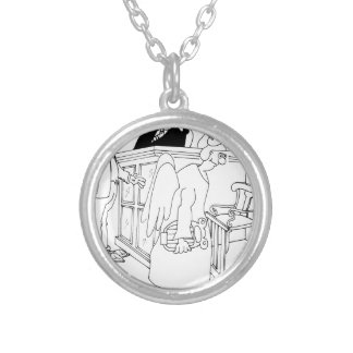 Court Cartoon 5621 Silver Plated Necklace
