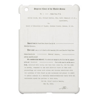 Court Case Brown v. Board of Education of Topeka iPad Mini Covers