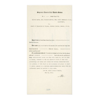 Court Case Brown v. Board of Education of Topeka Photo Card Template