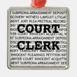 Court Clerk Christmas Christmas Ornament