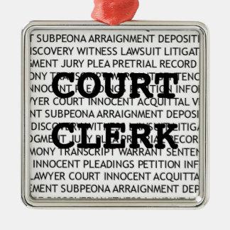 Court Clerk Christmas Metal Ornament