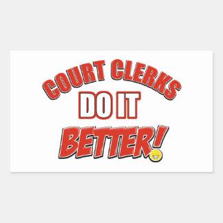 Court Clerk designs Rectangular Sticker