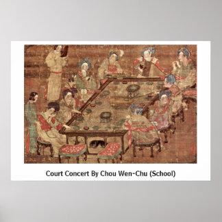 Court Concert By Chou Wen-Chu (School) Poster