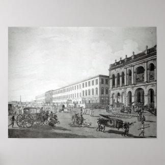 Court del alcalde y el edificio de los escritores impresiones