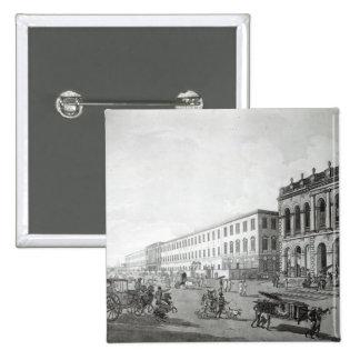 Court del alcalde y el edificio de los escritores pin cuadrada 5 cm