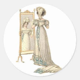 Court Dress 1822 Classic Round Sticker