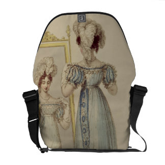Court dress, fashion plate from Ackermann's Reposi Messenger Bag