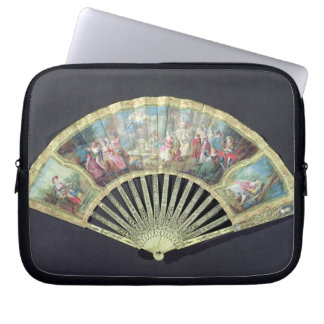Court Fan, French, 18th century  (ivory and w/c on Computer Sleeve