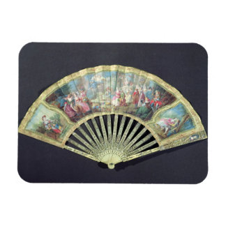 Court Fan, French, 18th century  (ivory and w/c on Magnet