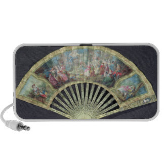 Court Fan, French, 18th century  (ivory and w/c on iPod Speaker