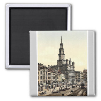 Court House and Old Market, Posen, Germany (i.e., 2 Inch Square Magnet
