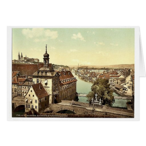 Court house, Bamberg, Bavaria, Germany vintage Pho Cards