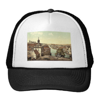 Court house, Bamberg, Bavaria, Germany vintage Pho Trucker Hat