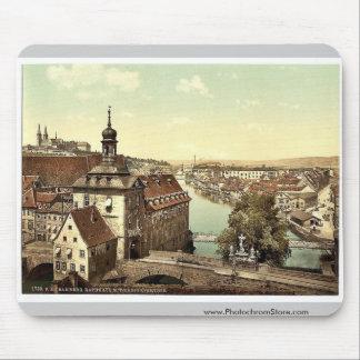 Court house, Bamberg, Bavaria, Germany vintage Pho Mouse Pads