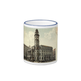 Court House, Canton Ohio, 1910 Vintage Coffee Mugs