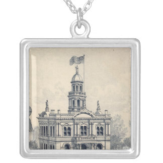 Court House, Fresno Personalized Necklace