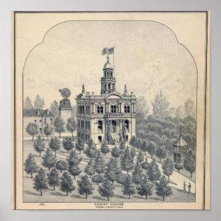 Court House, Fresno Poster