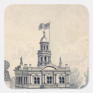 Court House, Fresno Sticker