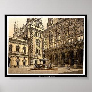 Court House, Hamburg, Germany Poster