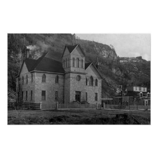 Court House in Skagway, Alaska Photograph Poster