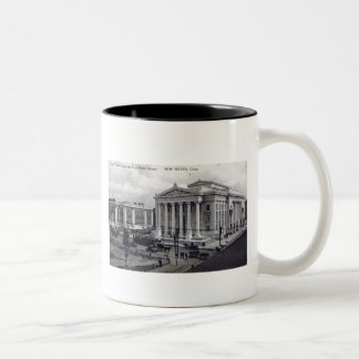 Court House, Library, New Haven CT 1912 Vintage Coffee Mug