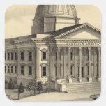 Court House, Santa Clara Co Square Sticker