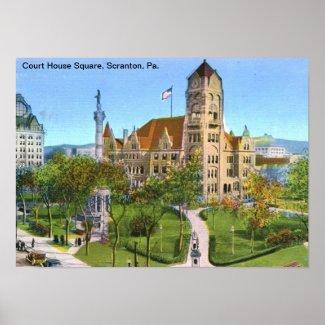 Court House Sq., Scranton, PA Vintage print