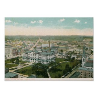 Court House Square, Toledo, OH Vintage print