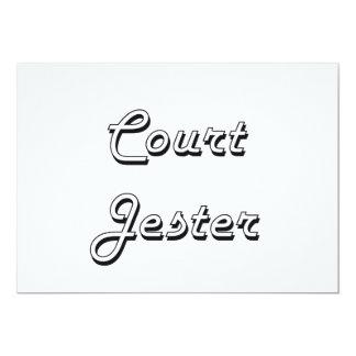 Court Jester Classic Job Design 5x7 Paper Invitation Card