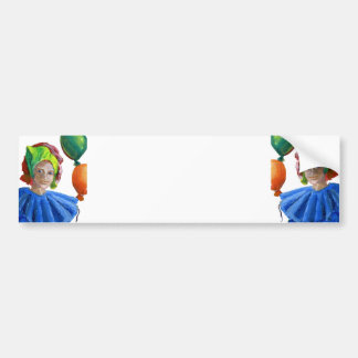 Court Jester Clown with Balloons Bumper Sticker