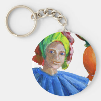 Court Jester Clown with Balloons Keychain