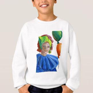 Court Jester Clown with Balloons Sweatshirt