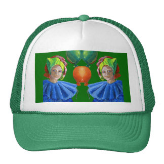 Court Jester Clown with Balloons Trucker Hat