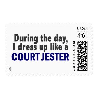 Court Jester During The Day Postage Stamp