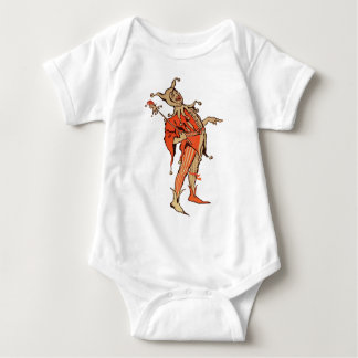 Court Jester Illustration Baby Bodysuit