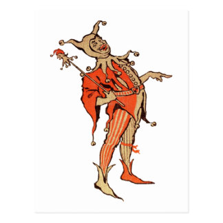 Court Jester Illustration Postcard
