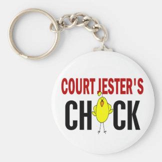 Court Jester's  Chick Basic Round Button Keychain