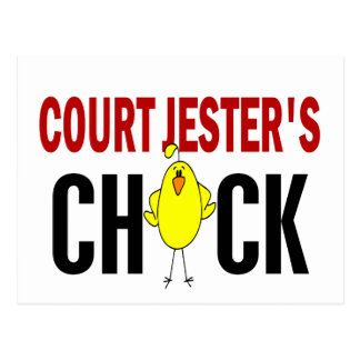 Court Jester's  Chick Postcard
