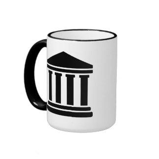Court justice symbol mugs