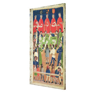 Court of King s Bench Westminster Hall c 1460 Stretched Canvas Prints