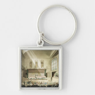 Court of King's Bench, Westminster Hall Silver-Colored Square Keychain