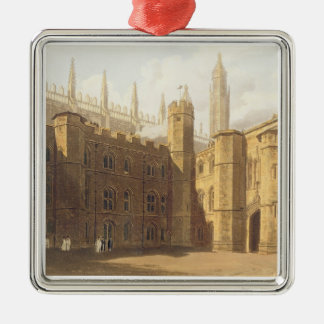 Court of King's College, Cambridge, from 'The Hist Christmas Ornament