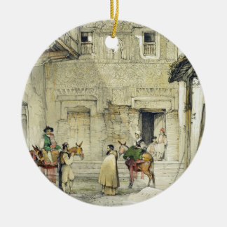 Court of the Mosque (Patio de la Mesquita), from ' Double-Sided Ceramic Round Christmas Ornament