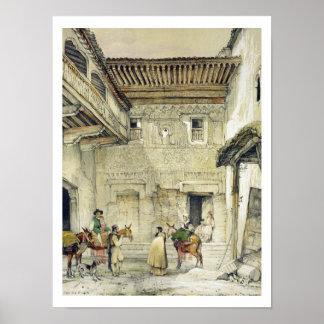 Court of the Mosque (Patio de la Mesquita), from ' Poster