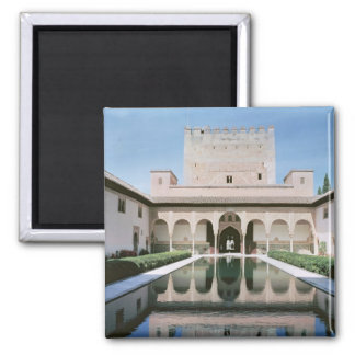 Court of the Myrtles, begun in 1333 2 Inch Square Magnet