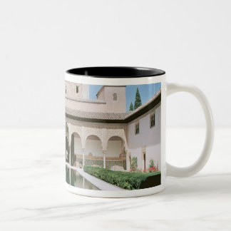Court of the Myrtles, begun in 1333 Two-Tone Coffee Mug