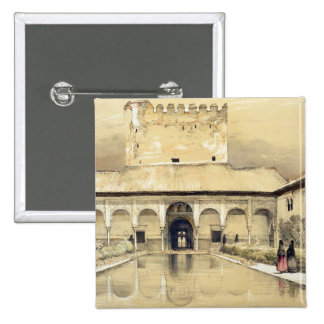 Court of the Myrtles (Patio de los Arrayanes) and 2 Inch Square Button