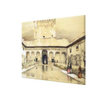 Court of the Myrtles (Patio de los Arrayanes) and Canvas Print